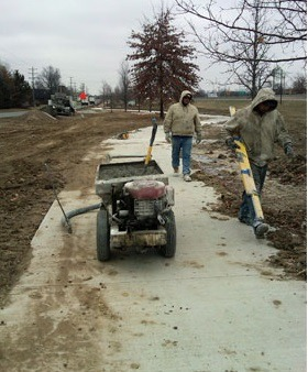 Ice concrete repair Kansas