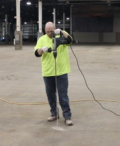 drilling for slab lifting and leveling in St. Louis, Kansas City