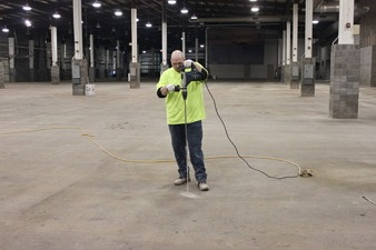shopping mall concrete floor repair