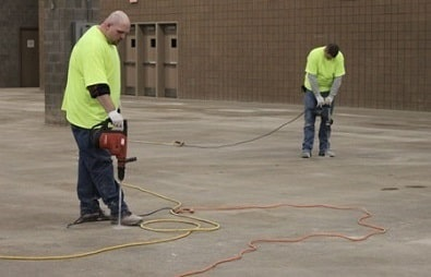 concrete floor repair for airports in kansas city and st. louis