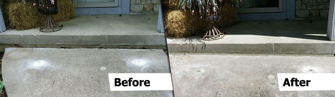 before and after concrete leveling Kansas City