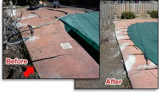 Pool deck leveling in Kansas City and St. Louis, MO